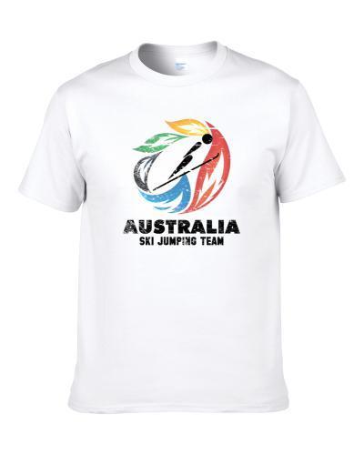 Australia Ski Jumping Team 2014 Olympic Sochi Vintage Distressed tshirt