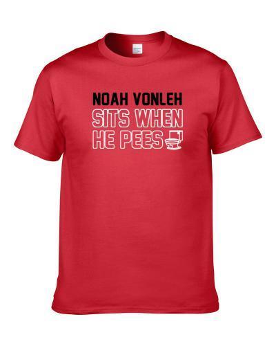 Noah Vonleh Sits When He Pees Portland Basketball Player Funny Sports Men T Shirt
