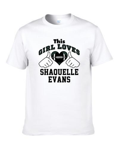 This Girl Loves Shaquelle Evans New York Ny Football Player Sports Fan Heart S-3XL Shirt