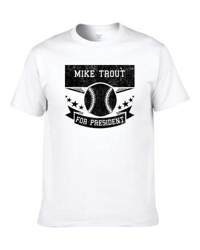 Mike Trout For President Funny Baseball Fan Tshirt  Shirt