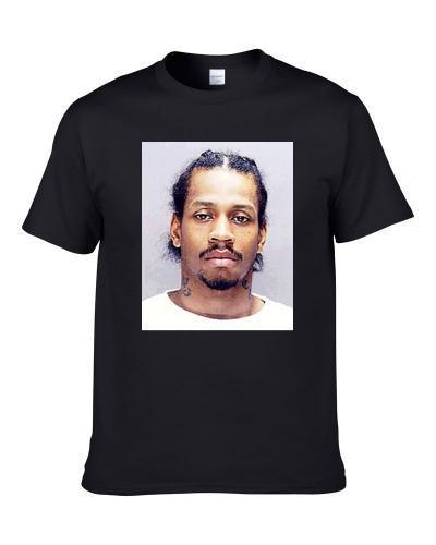 Allen Iverson Basketball Player Mugshot Men T Shirt