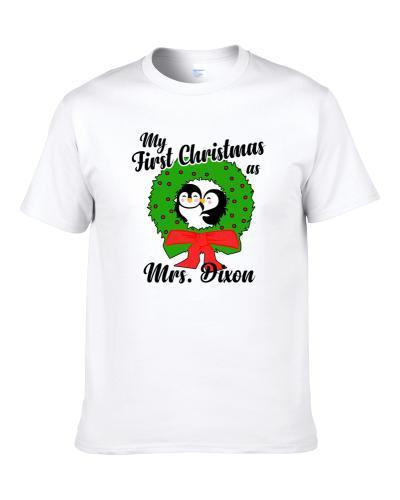 My First Christmas As Mrs Dixon Cute Christmas Men T Shirt