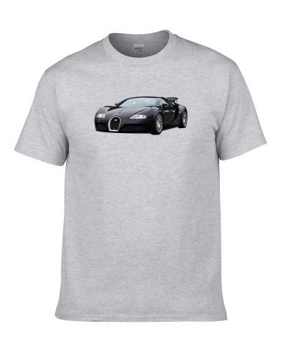 Bugatti Car Black Sports Car Fan T Shirt