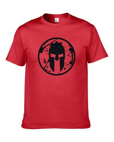 Spartan Blooded Shield Gym Workout Muscle TEE