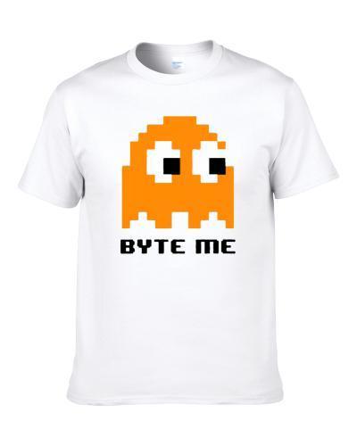 Bite Me Funny Pacman Gamming Fan S-3XL Shirt