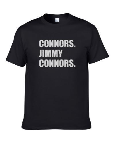 Jimmy Connors Tennis Player Name Bond Parody S-3XL Shirt