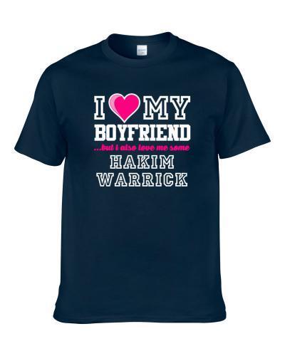 I Love My Boyfriend Also Love Me Some Hakim Warrick Memphis Basketball Player Fan TEE