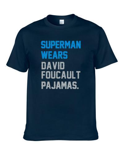 Superman Wears David Foucault Pajamas Carolina Football Player S-3XL Shirt