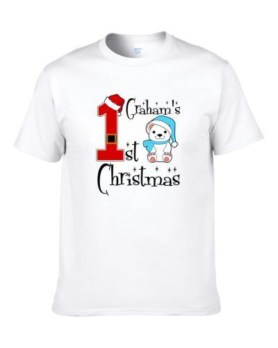 Graham Baby Boy First Christmas Cute Christmas S-3XL Shirt