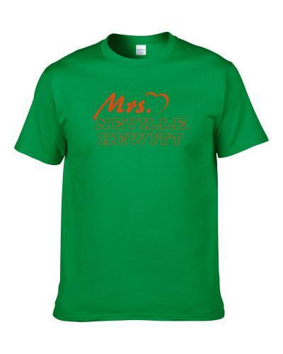 Mrs Neville Hewitt Miami Football Player Married Wife T Shirt