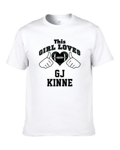 This Girl Loves Gj Kinne Philadelphia Football Player Sports Fan Heart S-3XL Shirt