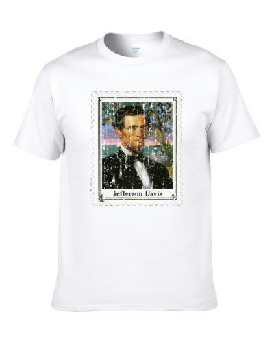 Civil War Jefferson Davis Stamp Collector Gift Men T Shirt