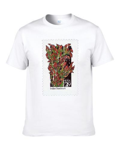 Wildflowers Indian Paintbrush Stamp Collector Gift Worn Look Shirt