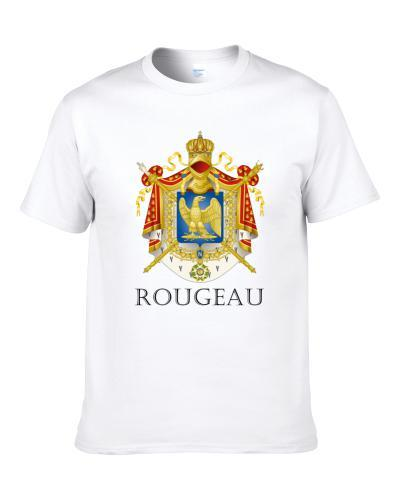 Rougeau French Last Name Custom Surname France Coat Of Arms Shirt For Men