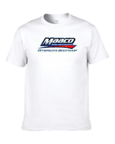 Maaco Automobile Car Truck Motorcycle Auto Parts Cool Distressed Style Brand Logo Emblem Shirt