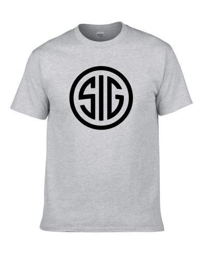 Sig Sauer Logo Gun Brands Ammunition Hunting Shooting Guns Fan T Shirt