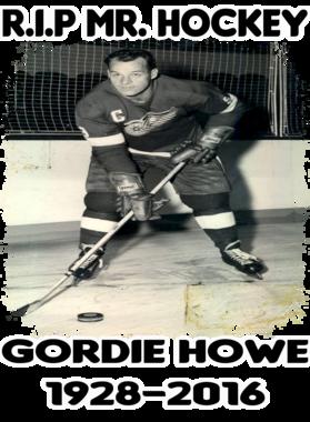 Gordie Howe Mr. Hockey Legend Memorial Tribute Worn Look Men T Shirt