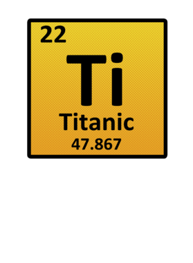 Titanic Periodic Table Shirt