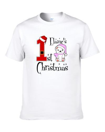 Elaine Baby Girl First Christmas Cute Christmas S-3XL Shirt