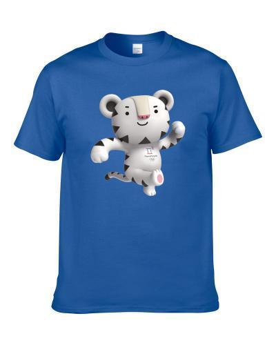 Soohorang Mascot Pyeongchang 2018 Olympic Winter Games White Tiger Fan tshirt