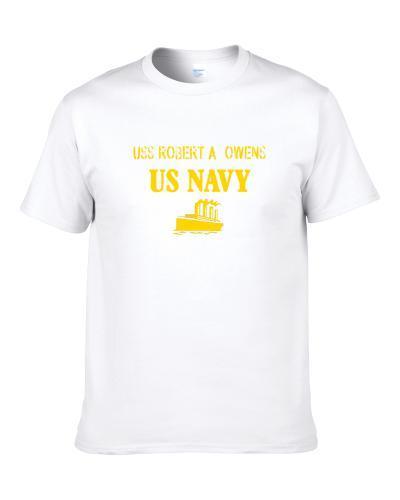 Uss Robert A. Owens Us Navy Ship Crew T Shirt