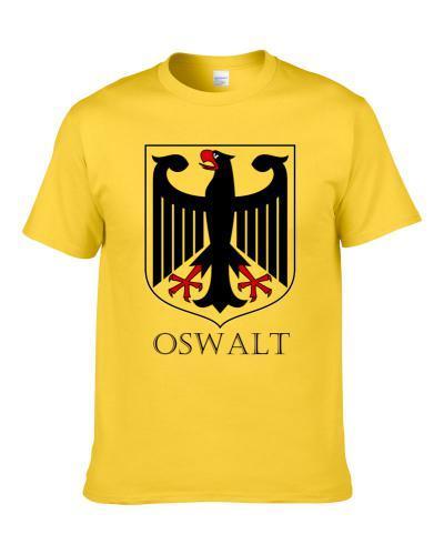 German Last Name Custom Oswalt Germany Coat Of Arms T Shirt