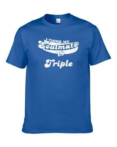 I Think My Soulmate Is Triple France Beer Cool Drink Worn Look tshirt