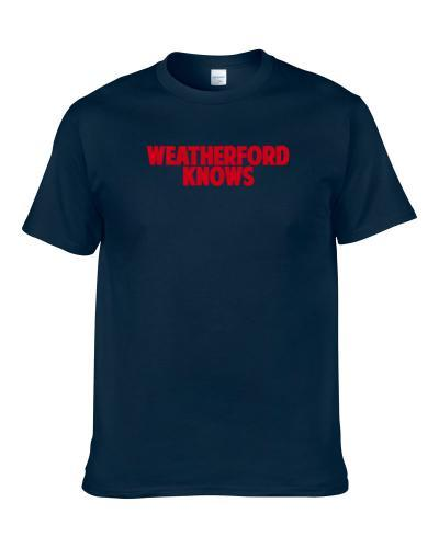 Steve Weatherford Knows New York Football Player Sports Fan S-3XL Shirt