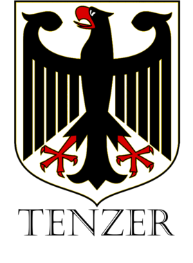 Tenzer German Last Name Custom Surname Germany Coat Of Arms T Shirt