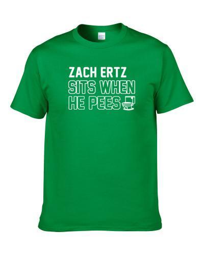 Zach Ertz Sits When He Pees Philadelphia Football Player Funny Sports Shirt