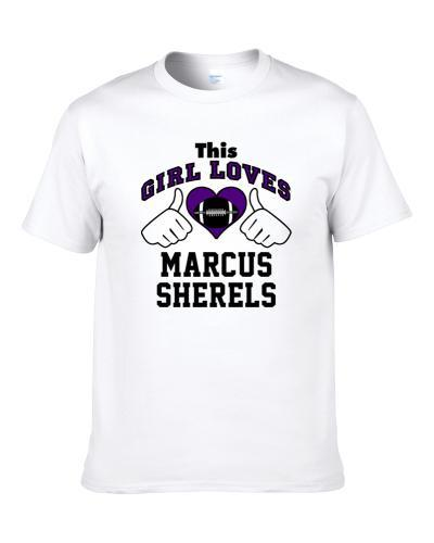This Girl Loves Marcus Sherels Minnesota Football Player Sports Fan Heart tshirt