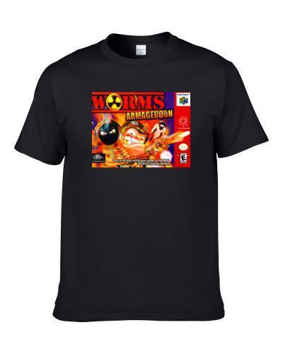 Worms Armageddon N64 Nintendo 64 Retro Video Game Apron Men T Shirt