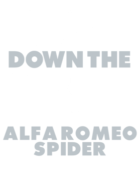 Happiness Is Cruisin Down The Street In My Alfa Romeo Spider Car T Shirt