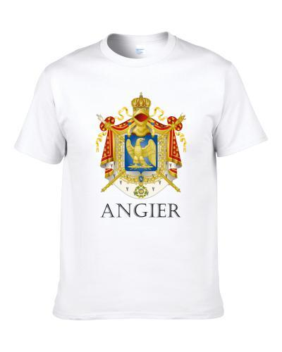 Angier French Last Name Custom Surname France Coat Of Arms S-3XL Shirt