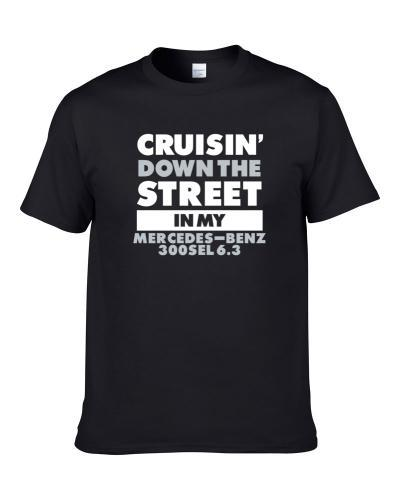 Cruisin Down The Street Mercedes-Benz 300Sel 6.3 Straight Outta Compton Car Hooded Pullover T Shirt