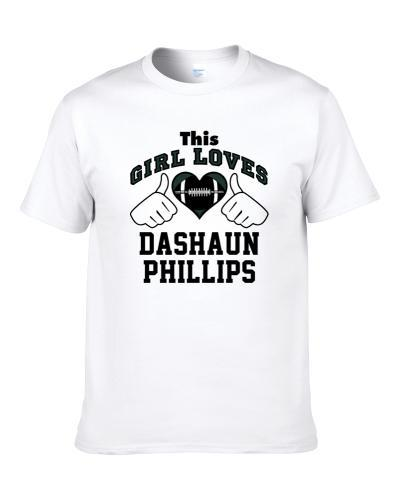 This Girl Loves Dashaun Phillips New York Ny Football Player Sports Fan Heart S-3XL Shirt