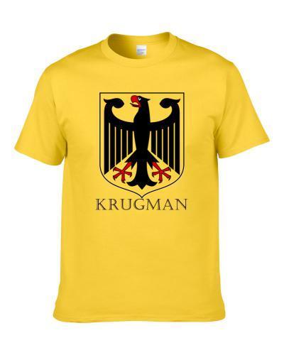 Krugman German Last Name Custom Surname Germany Coat Of Arms S-3XL Shirt