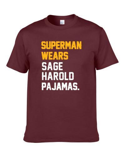Superman Wears Sage Harold Pajamas Washington Football Player Men T Shirt
