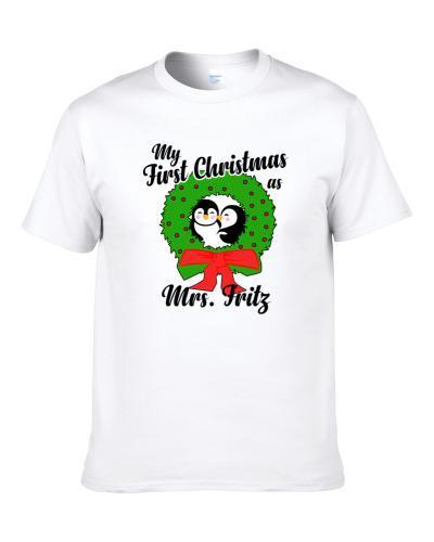 My First Christmas As Mrs Fritz Cute Christmas Men T Shirt