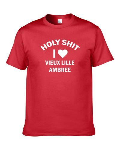 Holy Shit I Love Vieux Lille Ambree Beer Lover Drinking Gift S-3XL Shirt