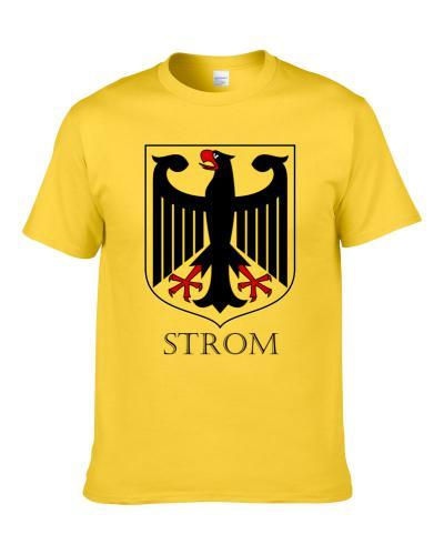 German Last Name Custom Strom Germany Coat Of Arms S-3XL Shirt