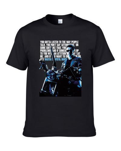 Hasta La Vista Baby Terminator 2 Retro 90s Movie Quote Poster Fan Men T Shirt