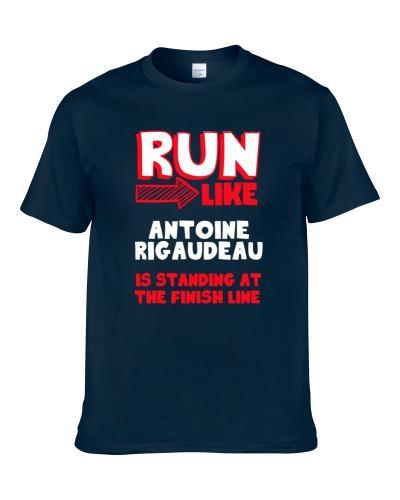 Run Like Antoine Rigaudeau Is At The Finish Line Dallas Basketball Player Funny Fan Men T Shirt