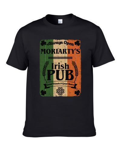 Moriarty Irish Pub Sign Custom St Patricks Day Last Name Ireland Pride TEE