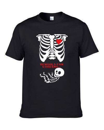 Cincinnati Football Fan Loading Cute Sports Maternity Skeleton Ladies Shirt