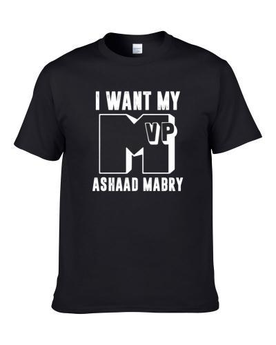 I Want My MVP Ashaad Mabry New Orleans Football Player Fan T Shirt
