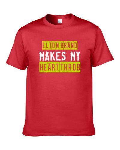 Elton Brand Makes My Heart Throb Atlanta Basketball Player Cool Fan Shirt