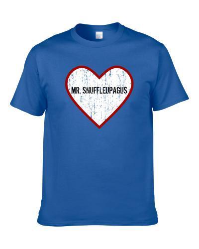 Mr Snuffleupagus Sesame Street Love Tv Character tshirt for men
