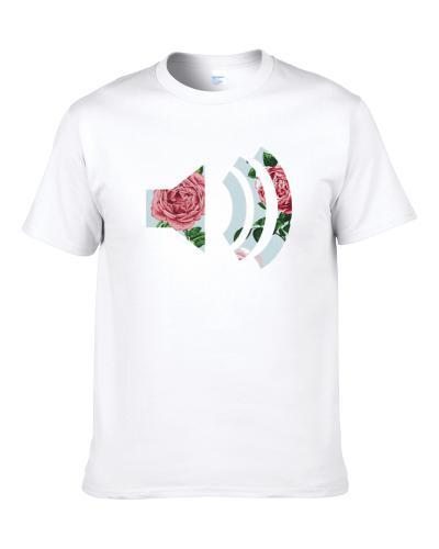 Turn Up The Music Flowers Fun Graphic S-3XL Shirt