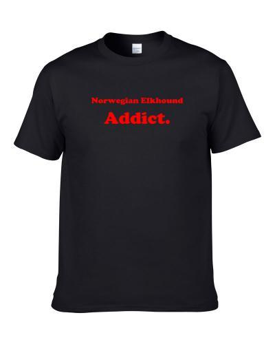 Norwegian Elkhound Addict Dog Lover Pet S-3XL Shirt